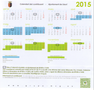 Calendari Fiscal Llaurí